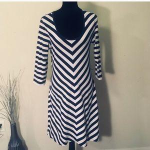 FREE! Allison Brittney Navy & white sailor dress